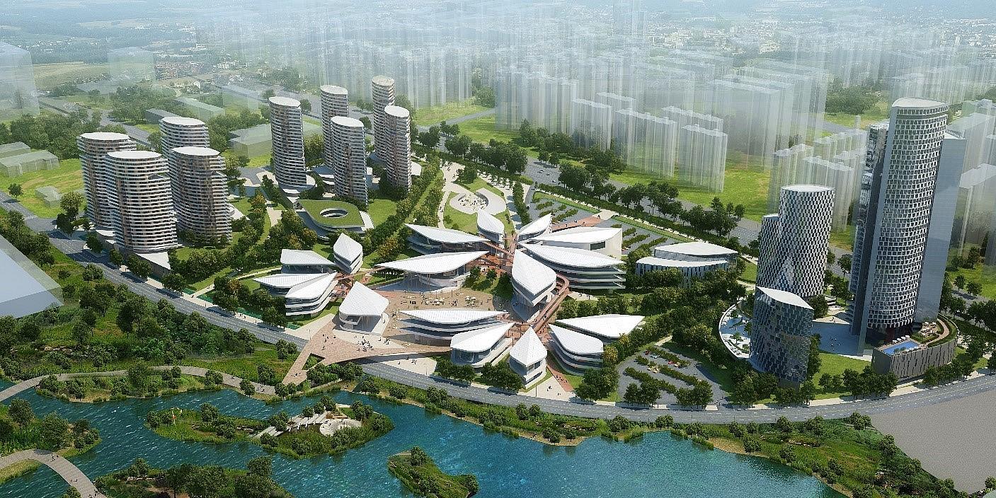 Complejo residencial hotelero, de oficinas y centro comercial (Ludoai, CHINA)